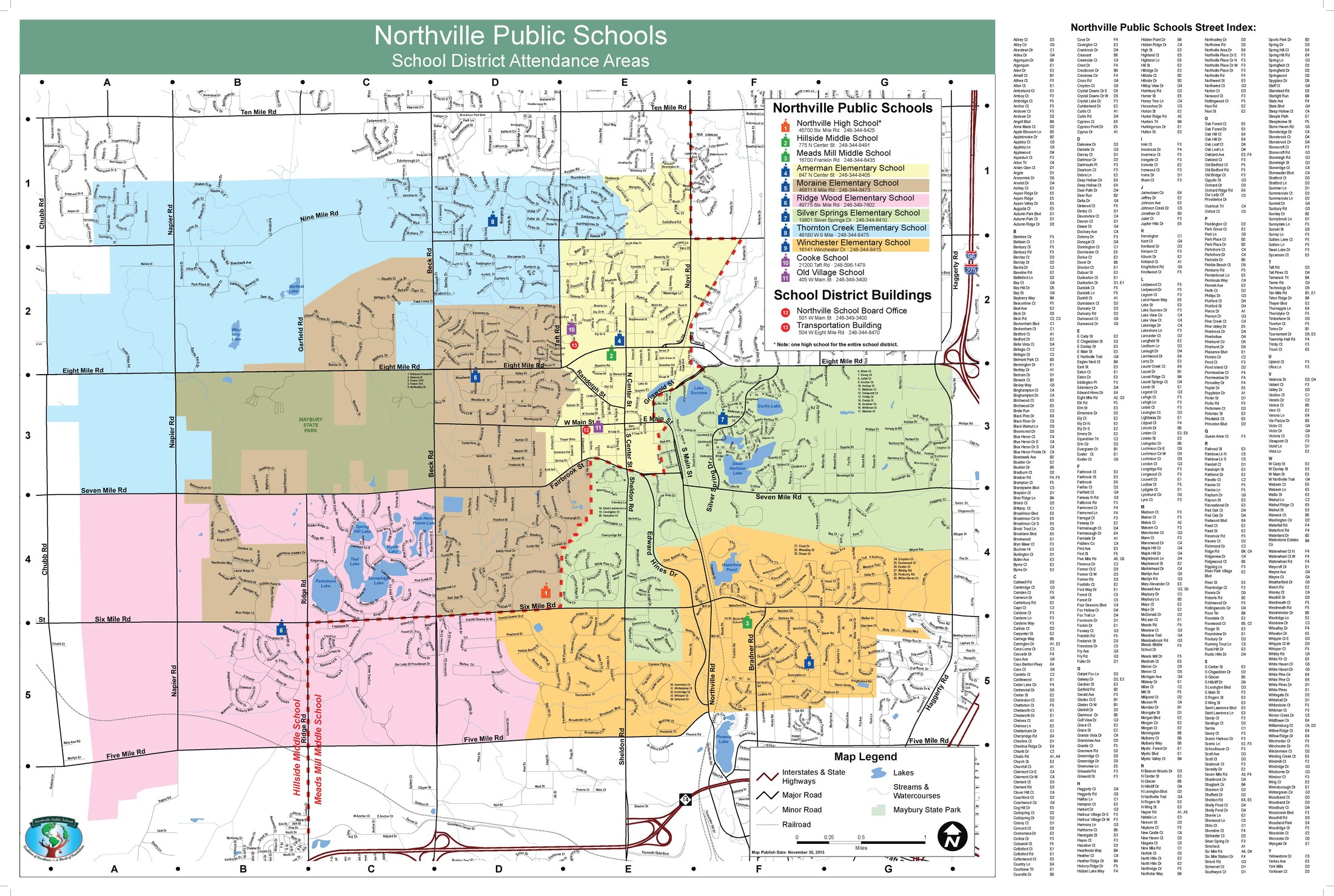 Boundary Maps District Information Northville Public Schools