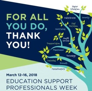 Education Support Professionals Week Thank You Image