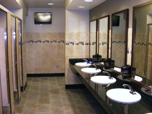 bathrooms in the fine arts center