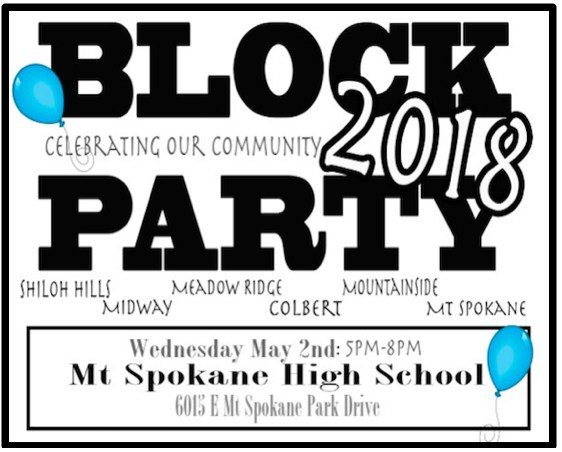 Join the Block Party at Mt Spokane High School