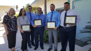 Tracy Chambers, Eric Dahlstrom, Robert Dominguez, Jonathon Workman, and facilitators of the Executive Development Program.