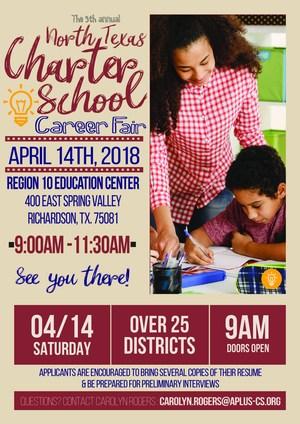 Annual North Texas Charter School Career Fair : April 14, 2018