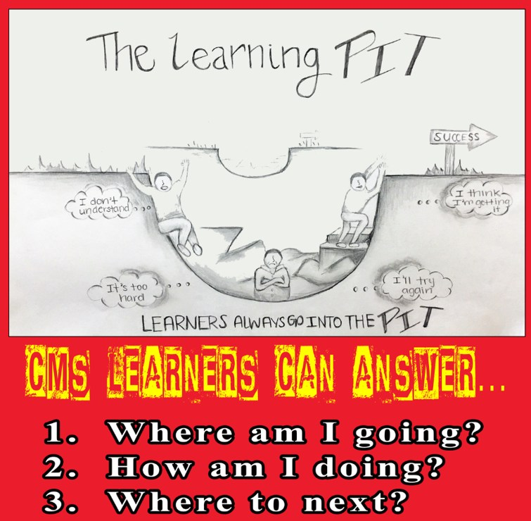 Middle School Learning Pit Pictograph