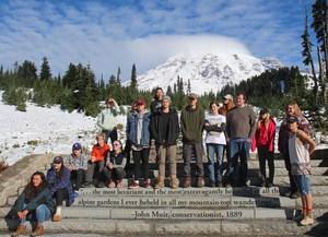 Students on Mt Rainier