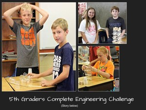 5th Graders Complete Engineering Challenge
