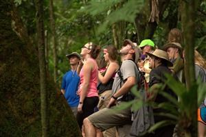 Mr. McFarland with a group in the jungle of Costa Rica.