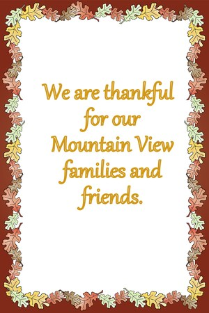 for Mountain View families and friends.