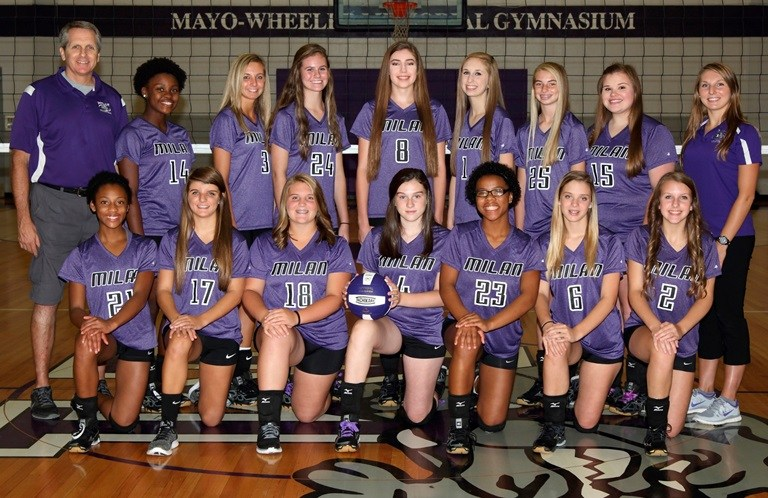Jr. Varsity Girls Volleyball Team Photo