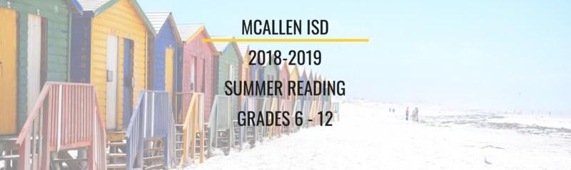 2018-2019 SUMMER READING GRADES 6 - 12