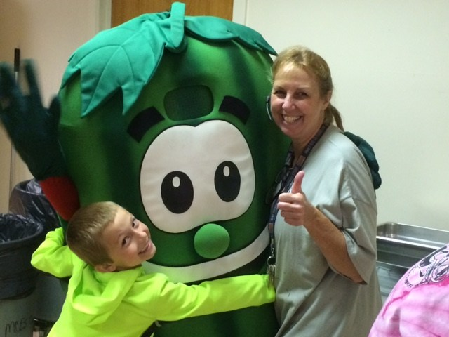 Vegetable Character with students