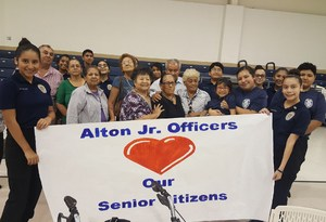 AMJH Jr Officers feast of joy with local senior citizens