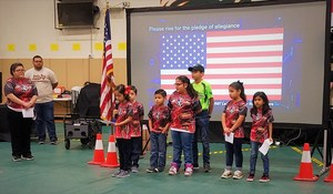 Cavazos Elementary LiL Robo-Rangers at the TESLA & BELL metro League Championship.