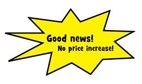 No price increase