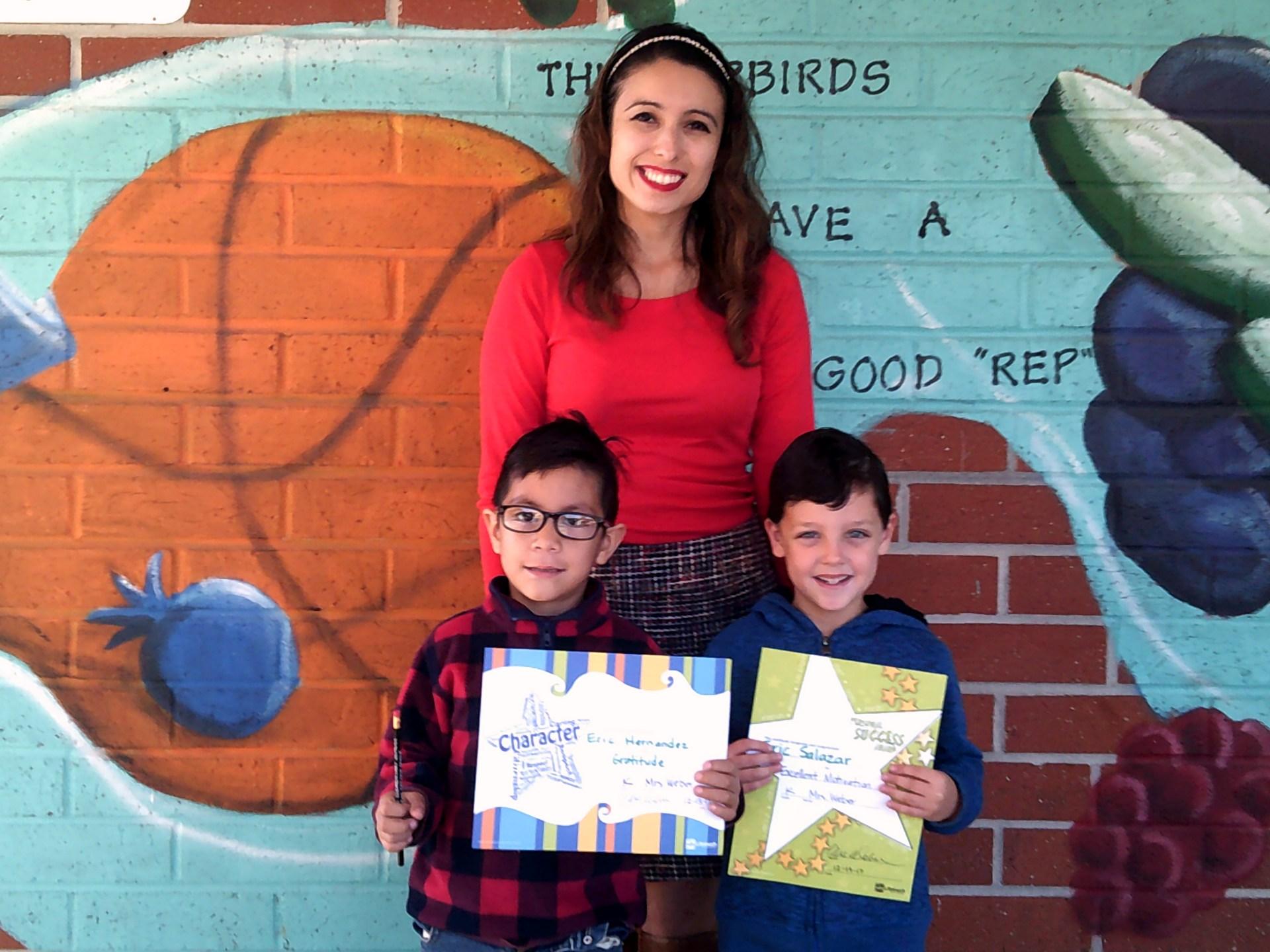 Ms. Galvan's December Honorees