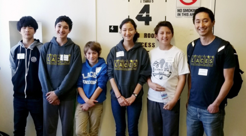 LACES Middle School Science Bowl team places 2nd!