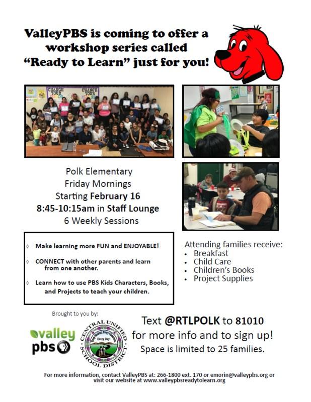 Polk ValleyPBS Workshop Flier