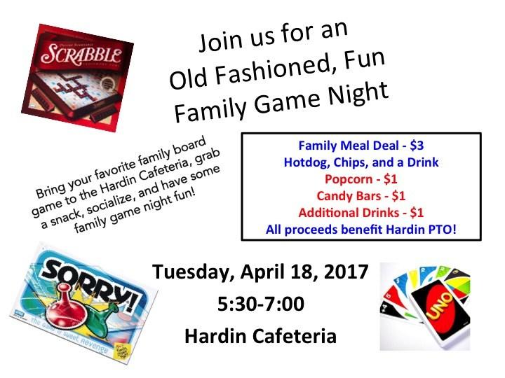 HARDIN FAMILY GAME NIGHT Thumbnail Image