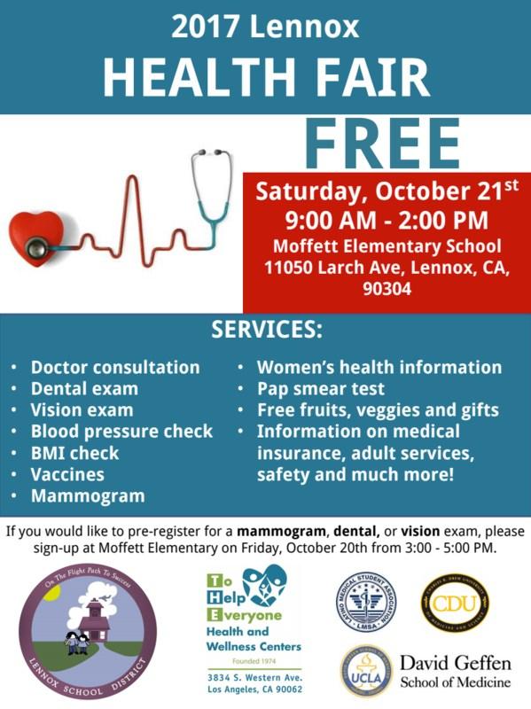 lennox health fair 2017 flyer