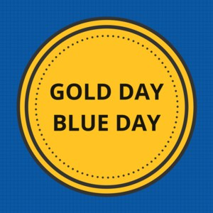 gold blue day