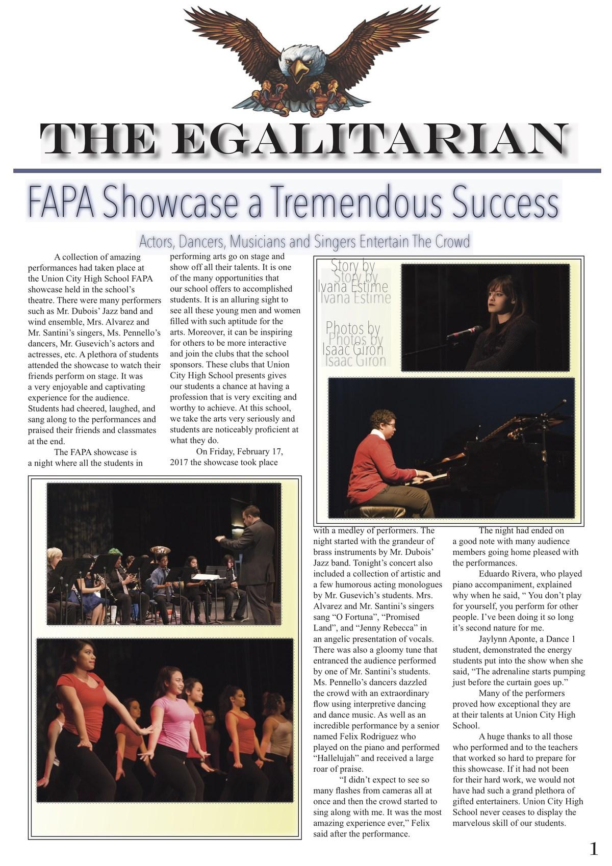 egalitarian FAPA showcase edition