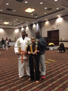 father and son karate students