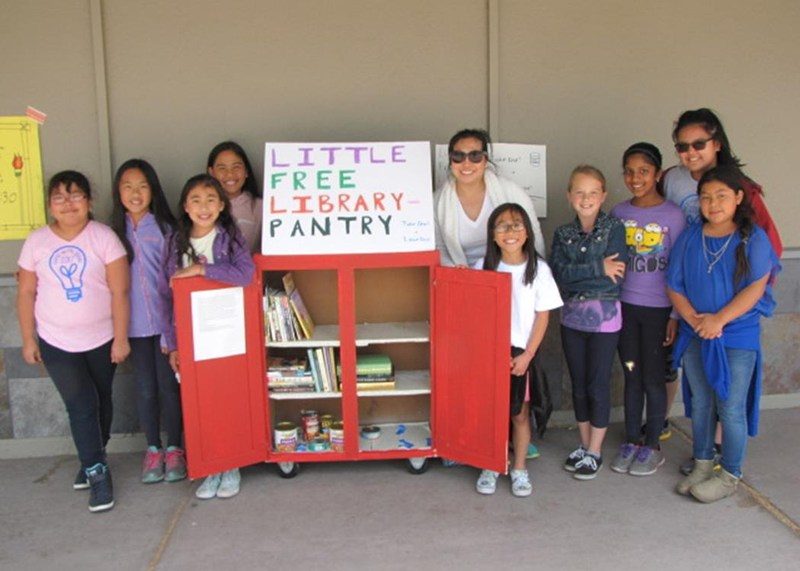 Latimer Students Work with College Project to Bring Little Library to Community Thumbnail Image