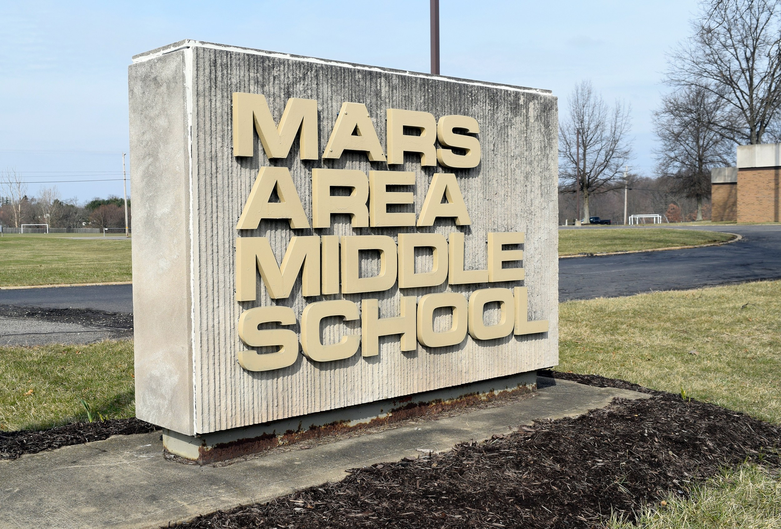 sign for mars area middle school