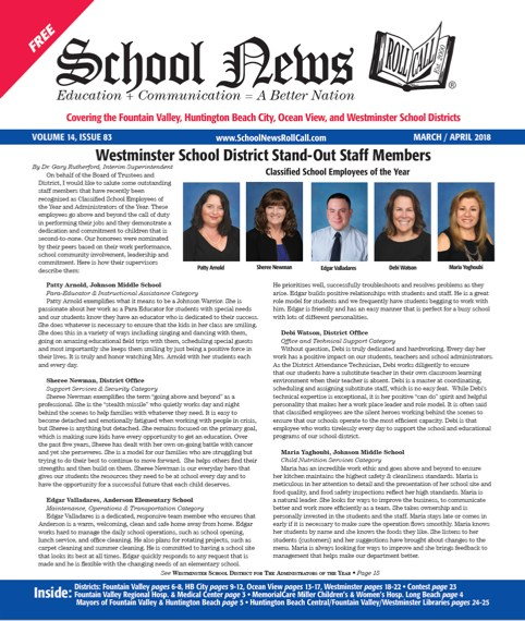 Cover Page of School News Roll Call