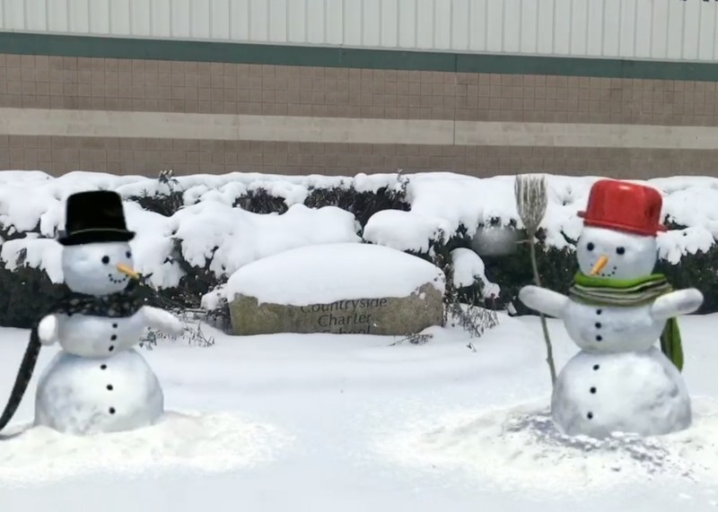 Snow Men at Countryside