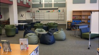 Flexible seating learning commons at JBMS