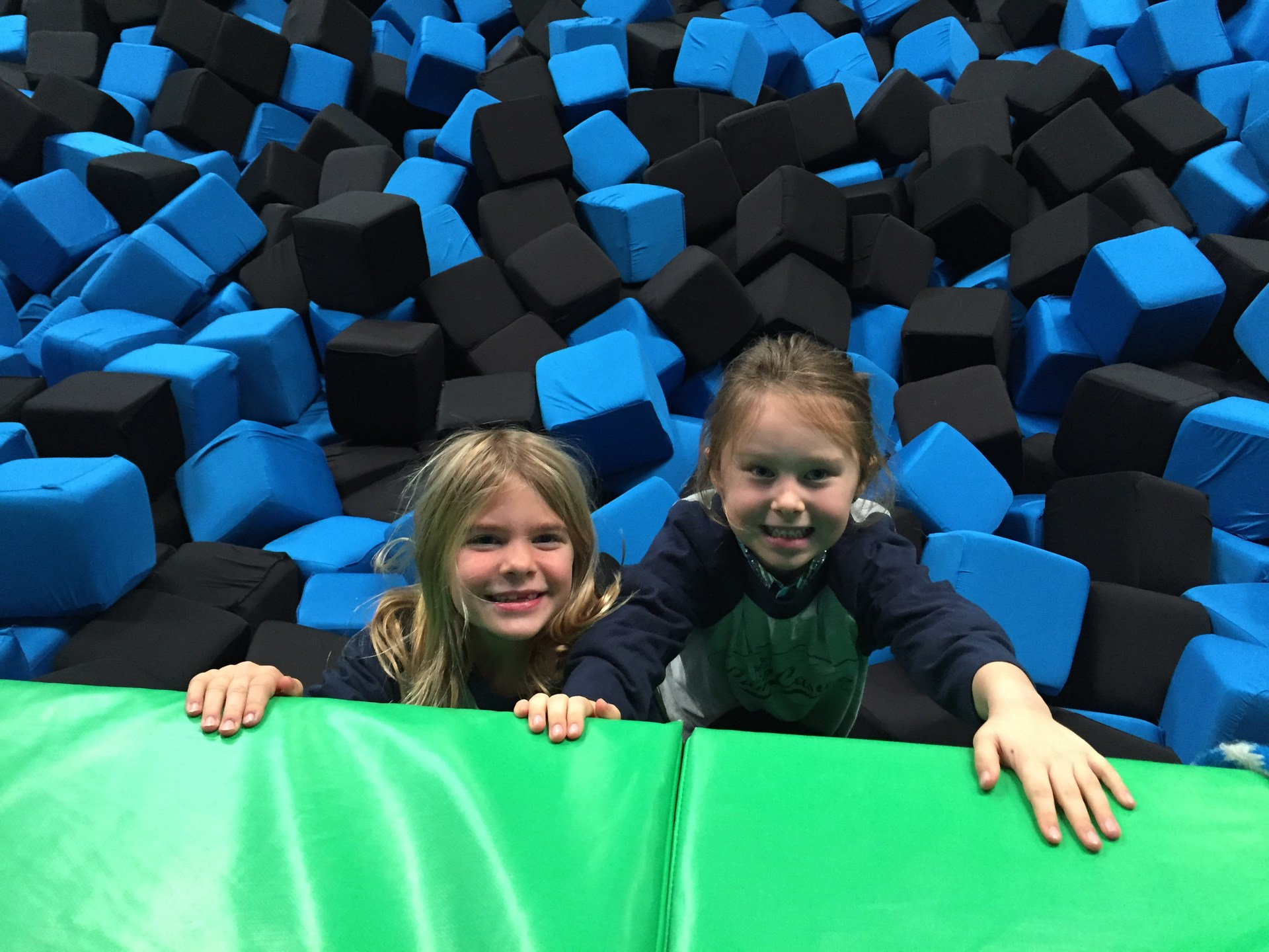 Students at foam pit
