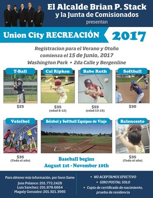 RECREATION flyer spanish