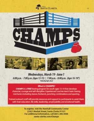 CHAMPS flyer