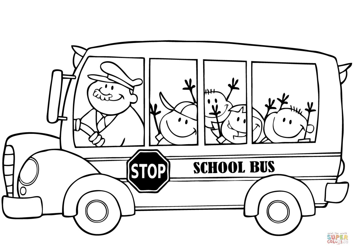 School Bus Picture to Color