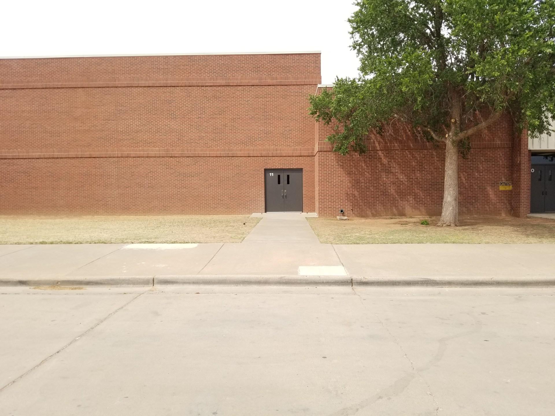 Bennett Elementary Outside Gym Entrance