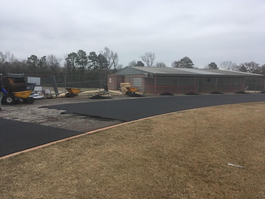 Track construction in progress