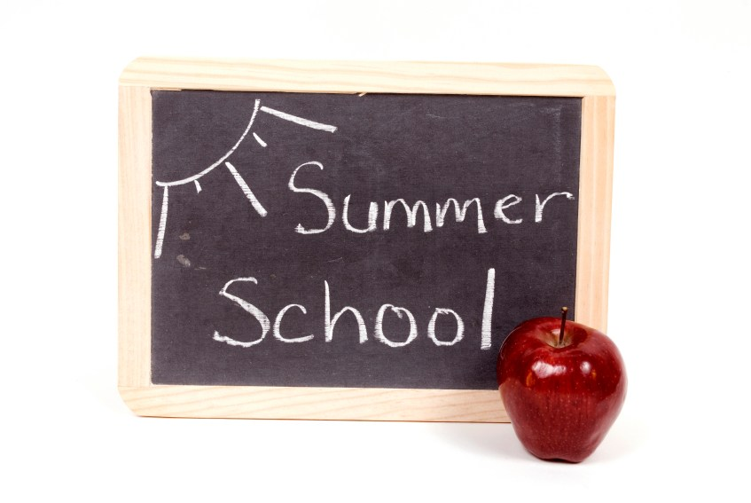 blackboard with red apple