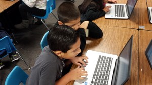 Vineland Elementary second-graders learn coding during the annual Hour of Code, an international effort to promote computer science education. Vineland students are engaging in the program throughout the week.