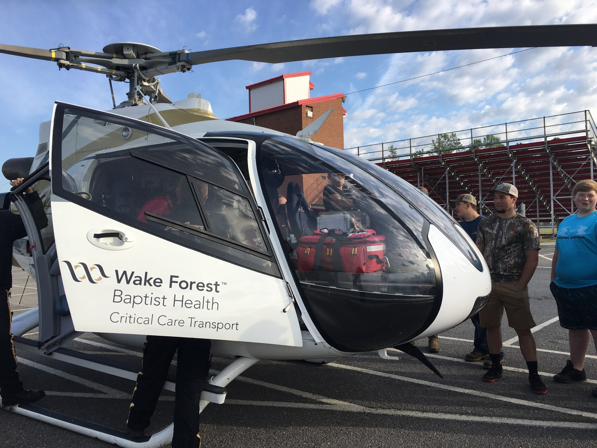 East Wilkes High Students learn about Air Medical Services