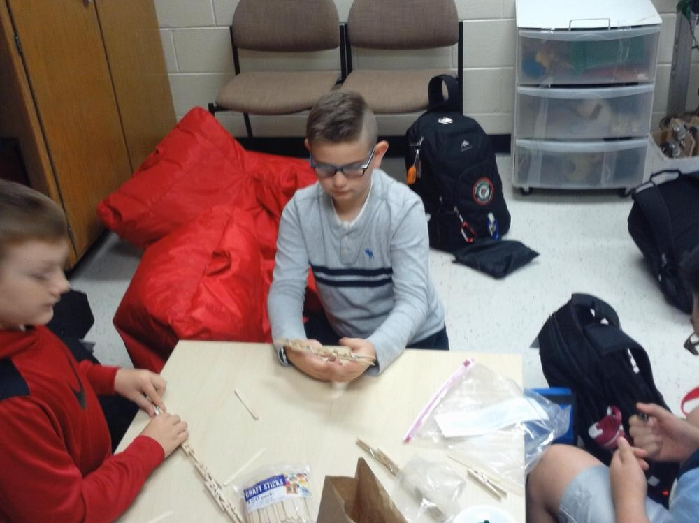 HOPE Group Students Working Through Engineering Challenge 2