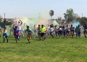 Jones Junior High School students celebrated their second annual Color Run on April 13 as part of the school's Positive Behavioral Intervention and Supports program.