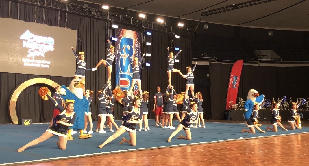 competition teams cheer song california high school