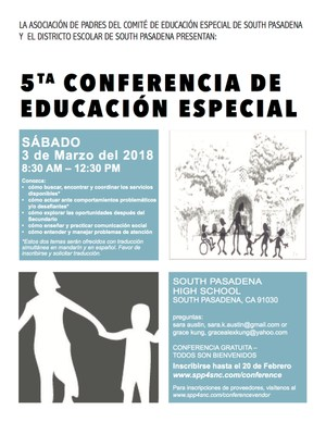 Special Needs Conference - Spanish flyer.png