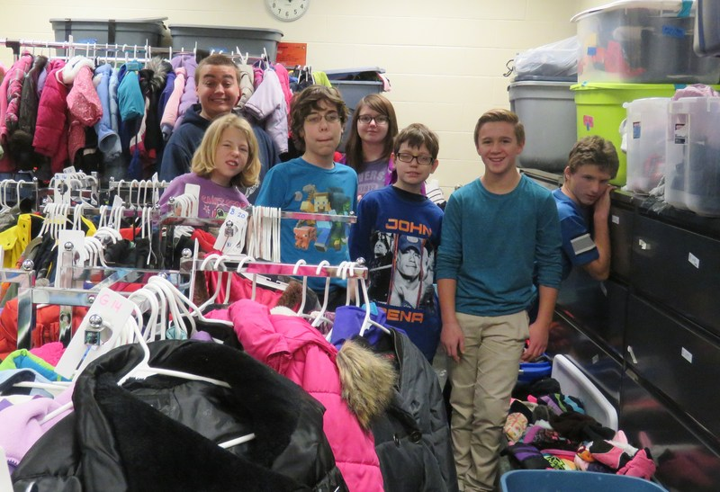 TKMS students take over the Classmates Care program to provide warm winter clothing for TK families.