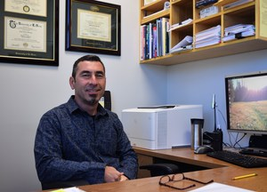 Sergio Barragan, a 12-year counselor at Jones Junior High School, empowers his students to achieve academic and personal success by preparing them for high school and creating a college-bound culture on campus.