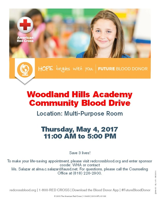 Red Cross Community Blood Drive at Woodland Hills Academy Thumbnail Image