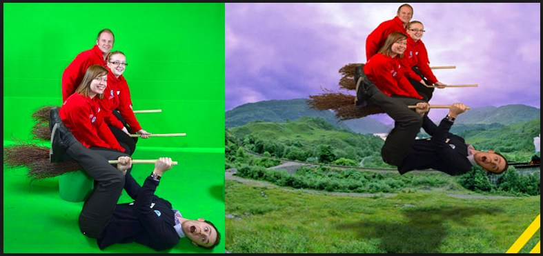 Example of green screen video creation