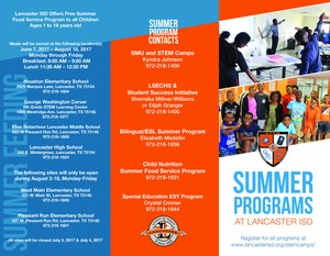 Summer Programs brochure outside cover