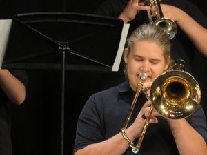 Spencer DeVries earned the Outstanding Jazz Band member.