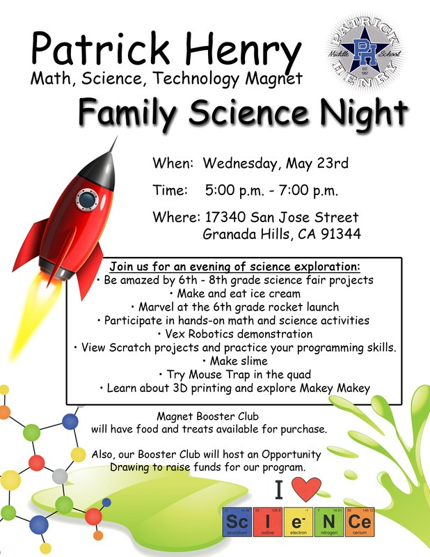 STEM Magnet Family Science Night Featured Photo